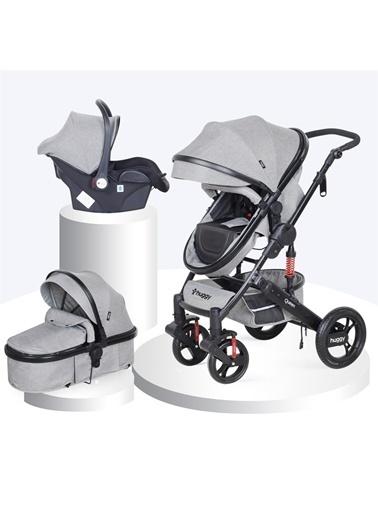 Huggy Huggy Queen 3 İn 1 Travel Sistem Bebek Arabası Gri